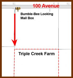Map to go to Farm from 100 Avenue